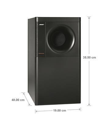 Bose AM5 Sub Dimensions