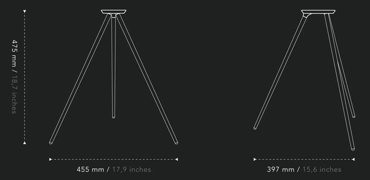 Legs dimensions