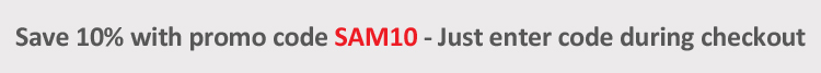 Save Extra 10% With Promo Code SAM10