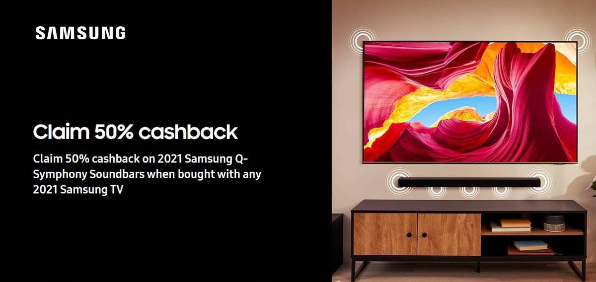 Samsung Q Symphony Cashback Offer