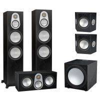 Monitor Audio Silver 500 AV12 5.1ch Speaker Package Black Oak
