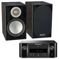 Marantz M-CR412 Black With Monitor Audio Silver 50 Black