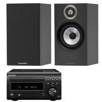 Denon DM41DAB with Bowers & Wilkins 607 Speakers Black / Black