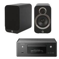 Denon Ceol N11 With Q Acoustics 3020i Speakers Black