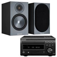 Denon DM41DAB with Monitor Audio Bronze 50 Black - Black