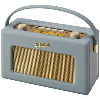 Roberts Radio RD60 Dove Grey Angled View