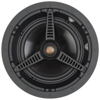 """Monitor Audio C180 8"""" Ceiling Speaker Grille Off"""