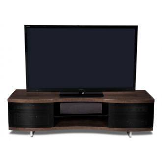 BDI Ola 8137 TV Cabinet Chocolate Stained Walnut Front View
