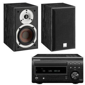 Denon DM41DAB Black with Dali Spektor 1 Black