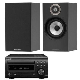 Denon DM41DAB with Bowers & Wilkins 607 Speakers Black / Black