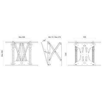 Cinemax Full Motion Wall Bracket Dimensions