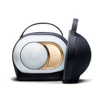 Devialet Cocoon shown with Gold Phantom