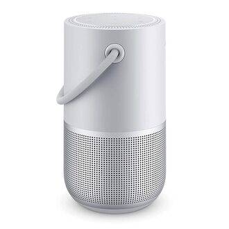Bose Portable Home Speaker Silver Side View