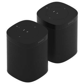 Sonos One Twin Pack Black