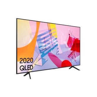 """Samsung QE55Q60T 55"""" QLED 4K Quantum HDR Smart TV Angled View"""