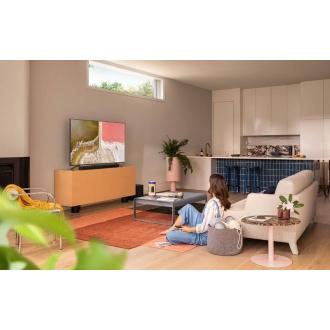 """Samsung QE55Q60T 55"""" QLED 4K Quantum HDR Smart TV Room Setting With Optional Soundbar"""