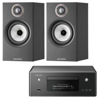 Denon Ceol RCD-N11 with Bowers & Wilkins 607 S2 Black