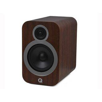 Q Acoustics 3030i English Walnut Angled View